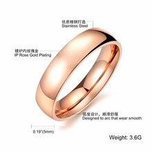 hot  wholesale couples rose gold ring designs for men & girl titanium