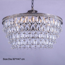 Retro Clarissa Glass drops LED crystal chandeliers lamp for dining/bedroom/big french empire style Restoration Hardware lighting цена 2017