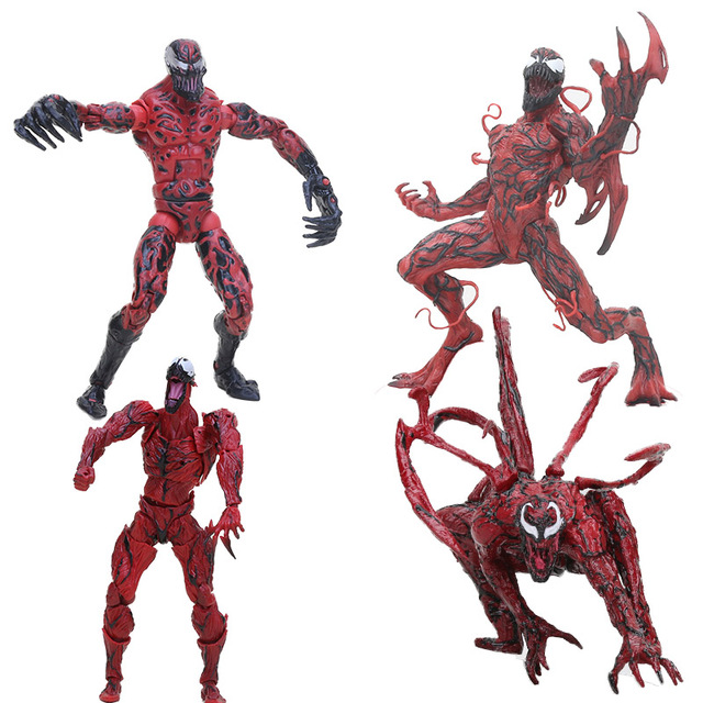 Marvel Spiderman Menakjubkan Yamaguchi Pembantaian Merah Racun Spider Man BDS Legends Figure PVC Collectible Model Toy Hadiah