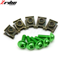for Universal 5pcs from the body of the motorcycle fairing screw fastener clips sportbike for Kawasaki ZZR600 05-09 ZX6R ZX636R