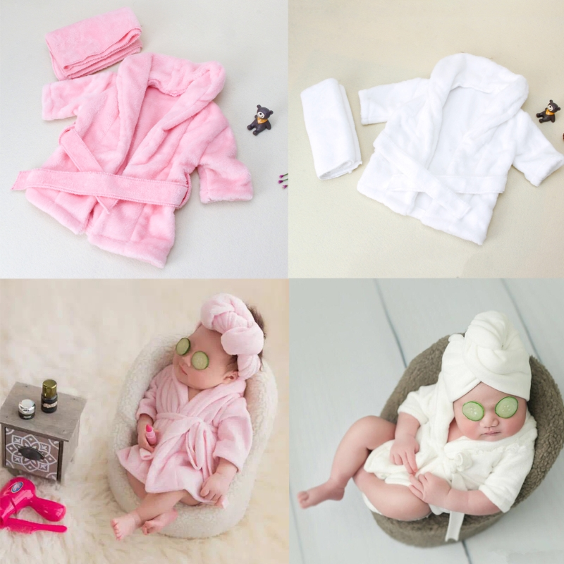 2018 Bathrobes Wrap Newborn Photography Props Baby Photo Shoot Accessories