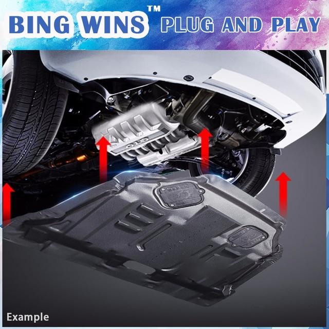 BING WINS Car styling For Nissan Sentra Plastic engine guard 2008 2016 For Sentra Engine skid ...
