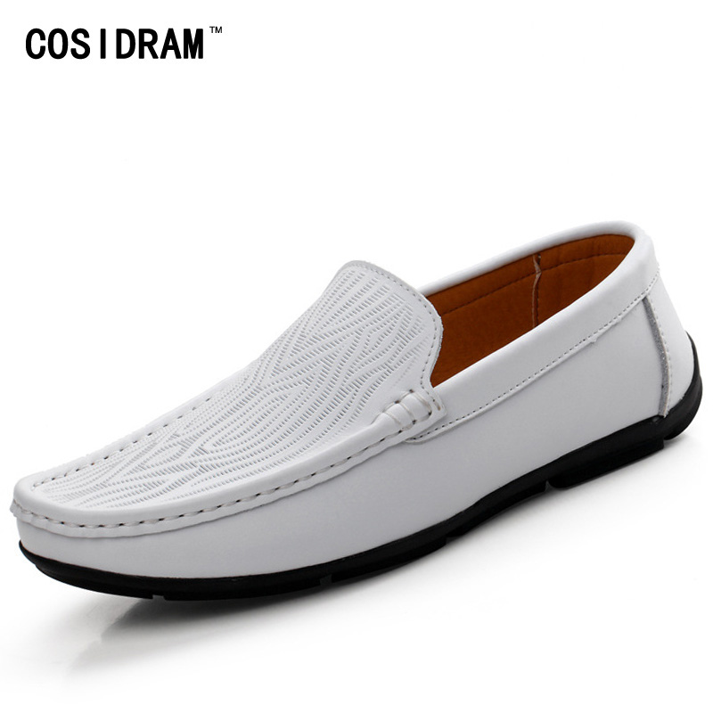 Spring Autumn Soft Bottom Leisure Driving Shoes Genuine Leather Men Flats Loafers Casual Shoes Fashion Male Footwear RMC-416 2017 new fashion summer spring men driving shoes loafers real leather boat shoes breathable male casual flats