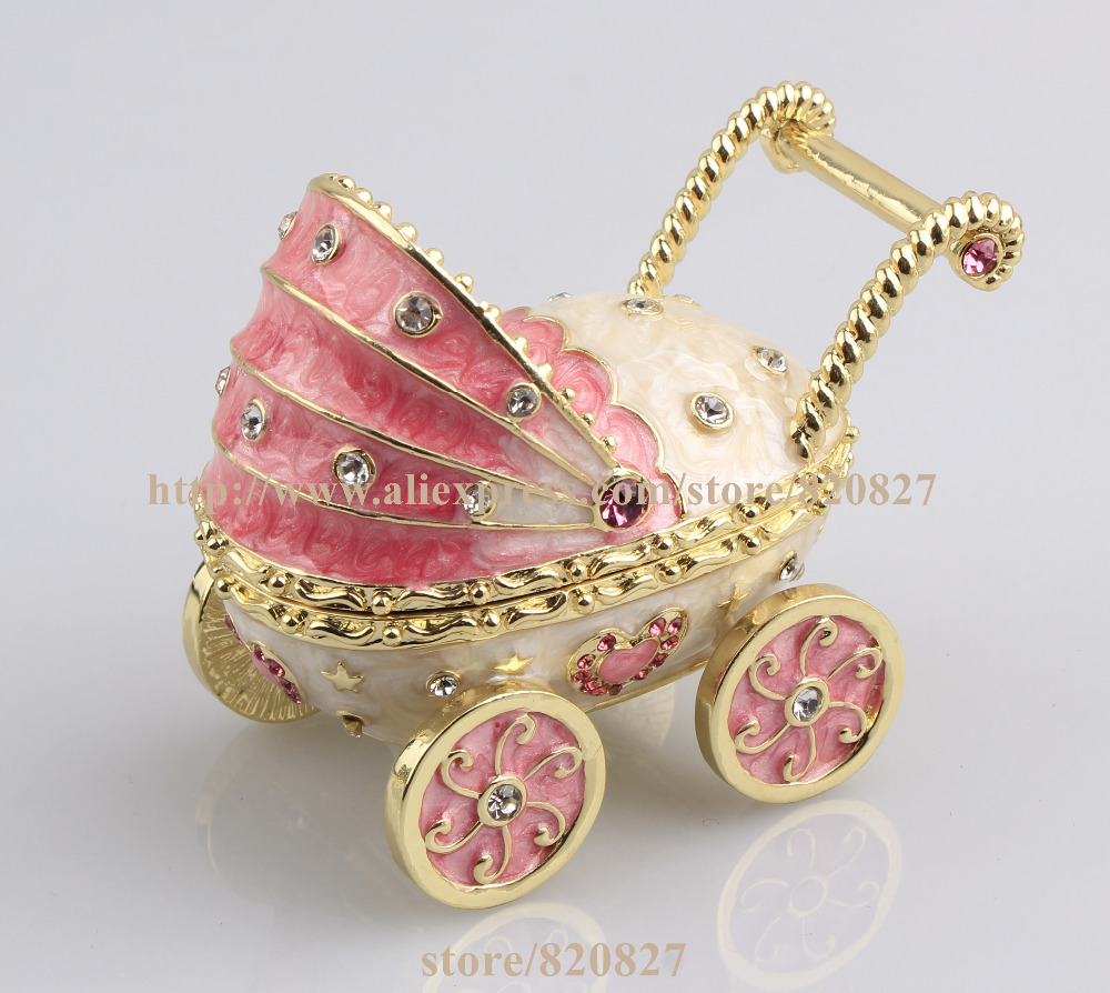 2016 New Baby Carriage Trinket Box Baby Toy Collective Gift Box Baby Carriage Jewelry Box Car Shape Pill Box Ring Holder2016 New Baby Carriage Trinket Box Baby Toy Collective Gift Box Baby Carriage Jewelry Box Car Shape Pill Box Ring Holder