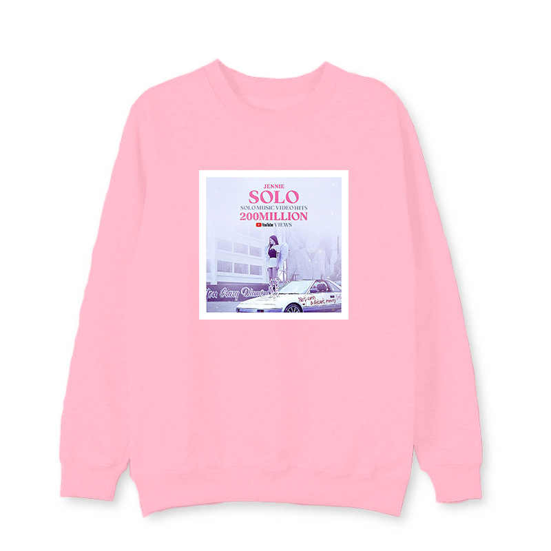 BLACKPINK surrounding sweatshirts with the same paragraph male female set head round neck Korean version of the spring autumn