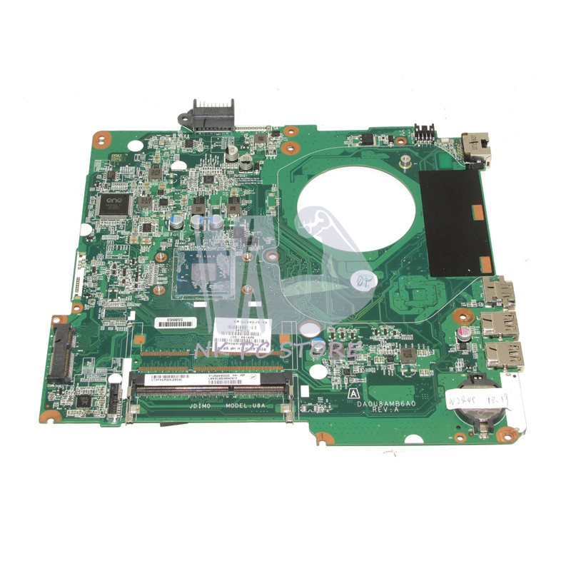 NOKOTION 828164-001 Main Board For HP Pavilion 15 15-F Laptop Motherboard DA0U8AMB6A0 SR1YJ N2840 CPU DDR3 657146 001 main board for hp pavilion g6 laptop motherboard ddr3 with e450 cpu