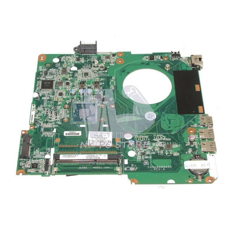 NOKOTION 828164-001 Main Board For HP Pavilion 15 15-F Laptop Motherboard DA0U8AMB6A0 SR1YJ N2840 CPU DDR3 nokotion zso51 la a996p 764264 501 764264 001 main board for hp pavilion 15 g laptop motherboard ddr3