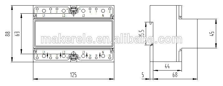 230/400 V 10 (100) Eine 3 Phase 4 Draht Verbindung Prüfstand ...