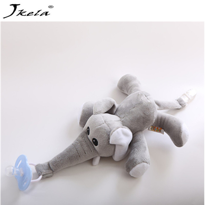 [New] Baby Pacifier Removable With Lid Toy Pacifiers Dummy Feeding Elephant Silicone Nipple For Newborns