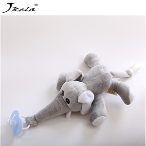 [New] Baby Pacifier Removable With Lid Toy Pacifiers Dummy Feeding Elephant Silicone Nipple For Newborns(China)