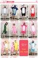 Cos de dibujos animados animal pijamas 100% algodón totoro / Pikachu / Hello Kitty / Doraemon / amantes de los dinosaurios de una pieza ropa de dormir COS
