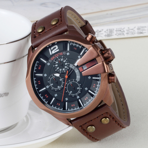 Image 2 - SKONEนาฬิกาผู้ชายหนังกันน้ำอัตโนมัติวันที่นาฬิกาข้อมือควอตซ์กีฬานาฬิกาชายChronographนาฬิกาRelogio Masculino