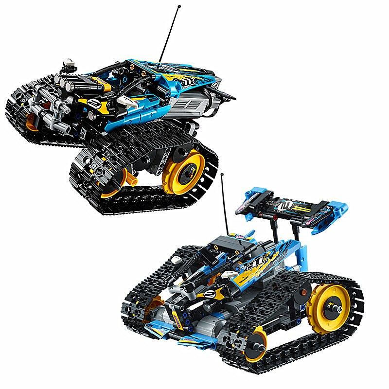 Série legoa Technic jeu de blocs de construction de modèle cascadeur télécommandé Compatible avec Legos 42095 jouets classiques 20096 - 3