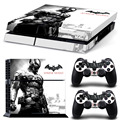 Top Sale Batman: Arkham Knight Protective Vinly Decal Wrap For PS4 Playstation 4 Console Skin Stickers+2Pcs Controller Skin