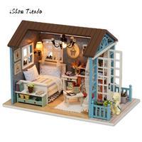 El Mejor regalo de navidad para la Novia DIY Creativo De Madera Muebles de Casa de Artesanías En Miniatura Caja de Regalo Creativo Juguete Del Rompecabezas 3D
