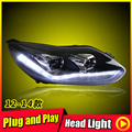 For 2012-2014 Ford Focus Headlights Pair Projector Lens LED Day Light