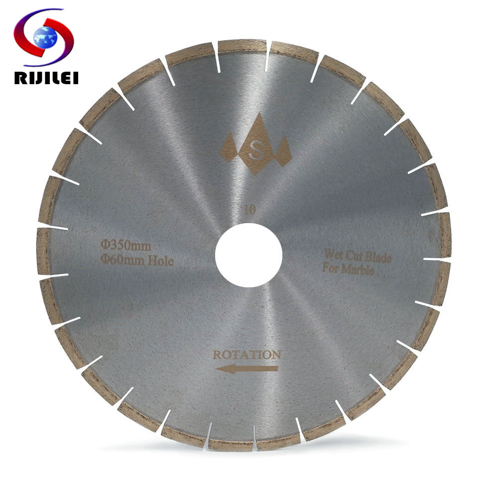 RIJILEI 350MM Silent Marble Diamond Saw Blades Professional Marble Stone Cutter Blade Sharp Cutting Circular Cutting Tools