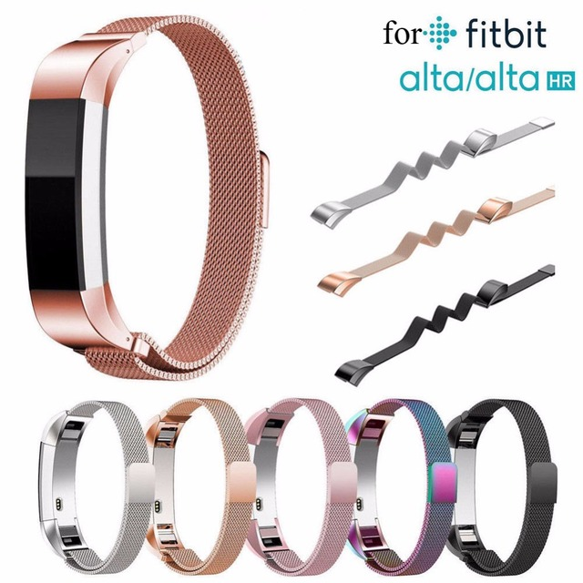 US $10 0  Milanese loop for Fitbit Alta HR Strap Replacement Band Stainless  Steel Metal Bracelet Wrist Watchband Smartwatch Accessories -in Smart