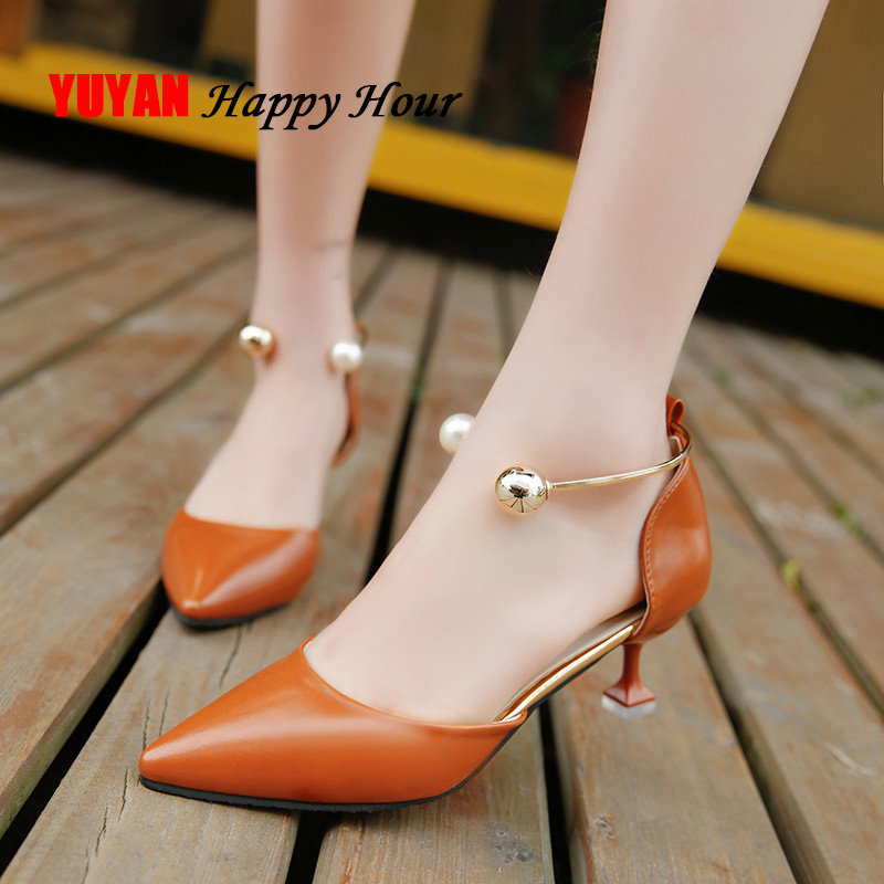 2019 Spring Summer High Heels Women Pumps Pointe Shoes Sexy Ladies High Heel Women Shoes Thin Heel 5cm A640