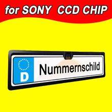 For SONY CCD HD car rear view cameras backup reverse Universal camera European License Plate Frame good image with LED camera