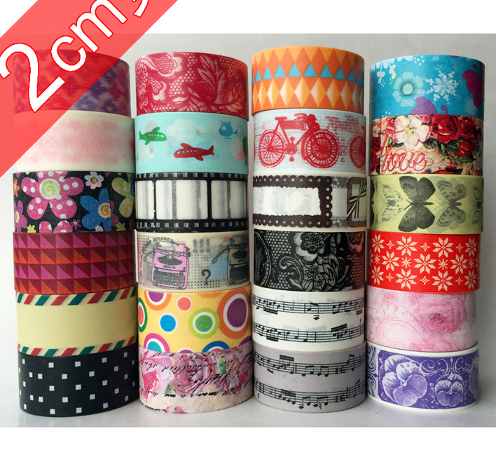 (Accept Select Design) 20mm*5m Japanese Washi Decorative Adhesive tape multicolour dot stripe Paper Masking Tape accept restless