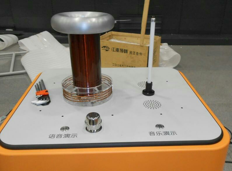 Voice control Micro Tesla coil, DRSSTC, science and technology museum exhibits
