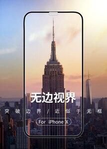 Image 4 - 2 個防塵のための iphone × iphone 11 強化ガラス 3D フル画面プロテクターフィルムのための iphone 11 プロ 11Pro 最大