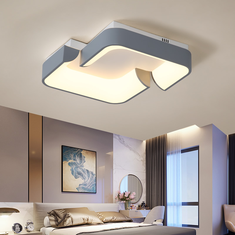 NEO Gleam Square 450x440mm Modern Led Chandelier For Living Study Room Bedroom White/Grey Color 110V 220V Ceiling Chandelier NEO Gleam Square 450x440mm Modern Led Chandelier For Living Study Room Bedroom White/Grey Color 110V 220V Ceiling Chandelier