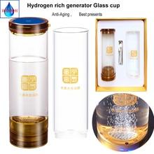 IHOOOH Wireless transmission Portable Healthy bottle USB Rechargeable Hydrogen generator water cup 600ML