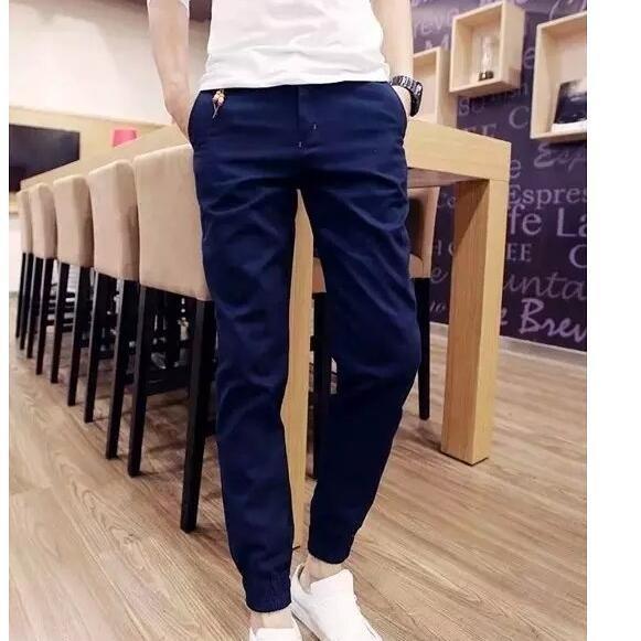 2016 Novo Ao Ar Livre na venda clássica sólidos casual confortável popular Homens homme Suor Corredores calças Slim Fit para o transporte livre