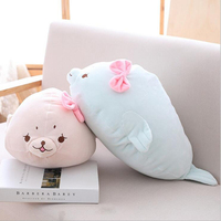 Fat Soft Seals Plush Toys Sea Lions Soft Stuffed Animal Toy Plush Pillow Birthday Gift For Girls