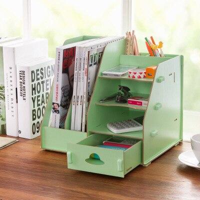 Accueil bureau bureau accessoires papier fichier organisateur boîte en bois porte revues bibliothèque de bureau