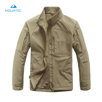 MOUNTEC Tactical Softshell Camouflage Outdoors Men Army Sport Clothing Men Waterproof Outdoor Climbing Hiking Jacket