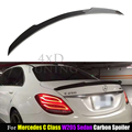 FD Style for Mercedes W205 AMG Spoiler 2014 2015 2016 C Class W205 C63 C180 C200 C250 C260 Carbon Fiber Rear Spoiler Trunk Wing