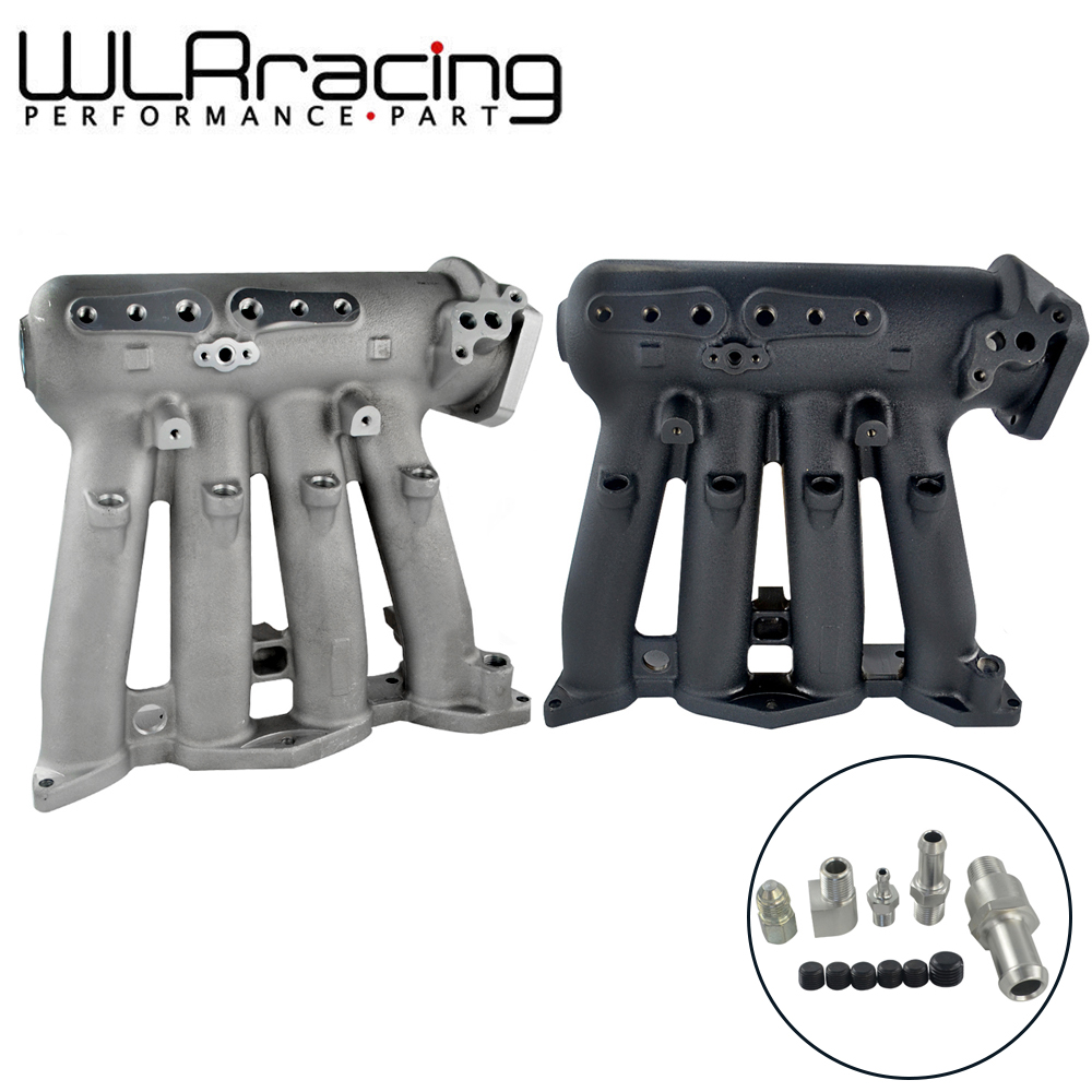 WLR RACING - NEW Black & Silver INTAKE MANIFOLD FOR 1992-95 Honda Civic EX, D16Z6 and D15B7 SOHC WLR-IM50