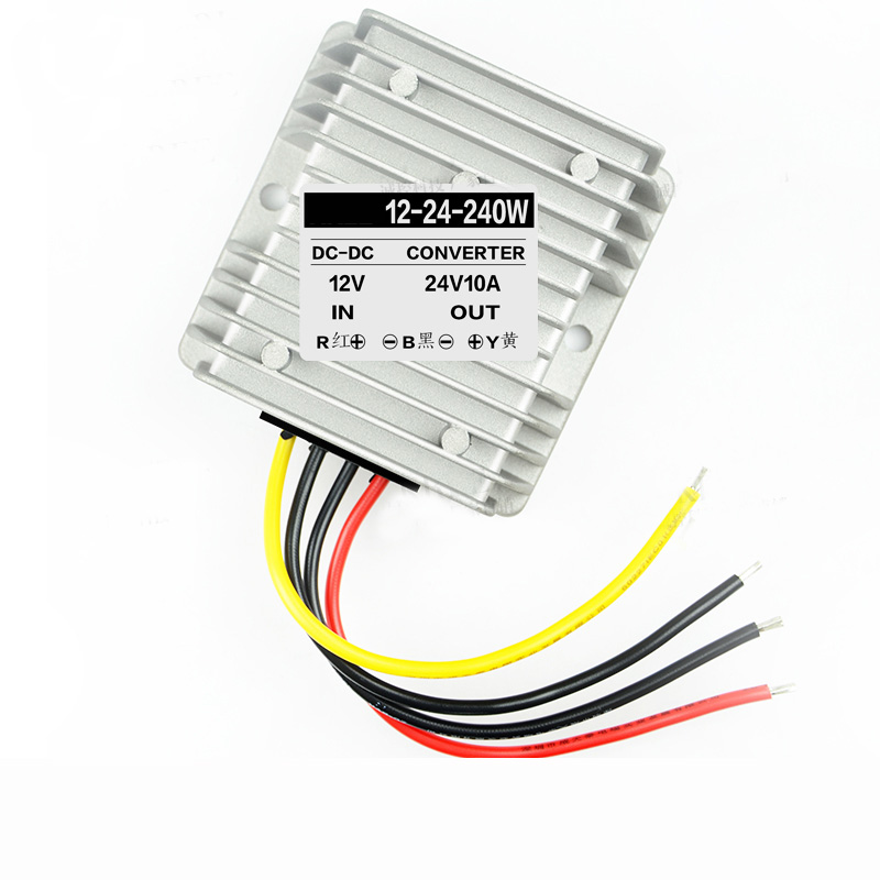 US $22 1 |12V to 24V 10A 240W Car Power supply Booster Amplifier Board DC  DC Voltage Step up Module transformer converter adapter for car-in Wire  from