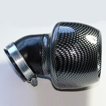 Black Air Filter For ATV Quad Moped Scooter Carbon fiber Adjustable Clamp Useful(China)