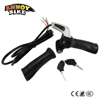 24V 36V 48V LCD Display Electric Bicycle Throttle Twist Grip Fit Electric Bike Motorcycle Electric Scooter