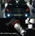 2 x Plug&Play H11 15PCS SHARP CHIP High Power LED Bulbs Fog Lamp Daytime Running Light For Nissan Qashqai Tiida Trail