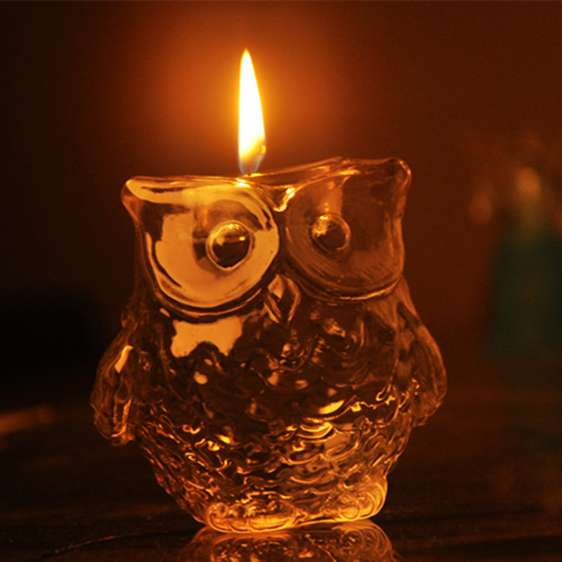 Owl the ancient Greek goddess of wisdom Athena's <font><b>sacred</b></font> bird symbol of mystery wisdom candle gift sets home Decoration