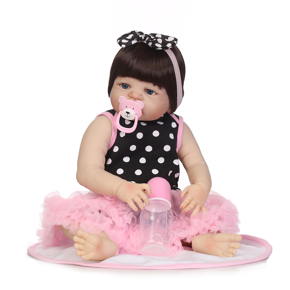 23inch reborn dolls full silicone Toy Baby-Reborn lifelike lol bebek toddler vinyl newborn bathe princess toddler Brinquedos to23inch reborn dolls full silicone Toy Baby-Reborn lifelike lol bebek toddler vinyl newborn bathe princess toddler Brinquedos to
