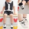Стильный 0-2Y дети детские мальчики девочки носки хлопок трикотажные Антипробуксовочная короткие носки дышащая носки