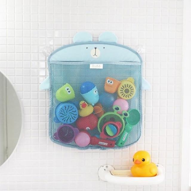 Kawaii Cartoon Storage Bag Colorful Baby Bath Toys Bag Bathroom Wall Cute Hanging Bag Fun Classic Toys for Children Play Gift