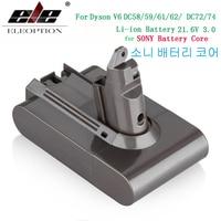3000 mAh 21.6 V 3.0 Li-Ion Batterij voor Dyson V6 DC58 DC59 DC61 DC62 DC74 SV09 SV07 SV03 965874- 02 Stofzuiger Batterij & 2.2 mAh