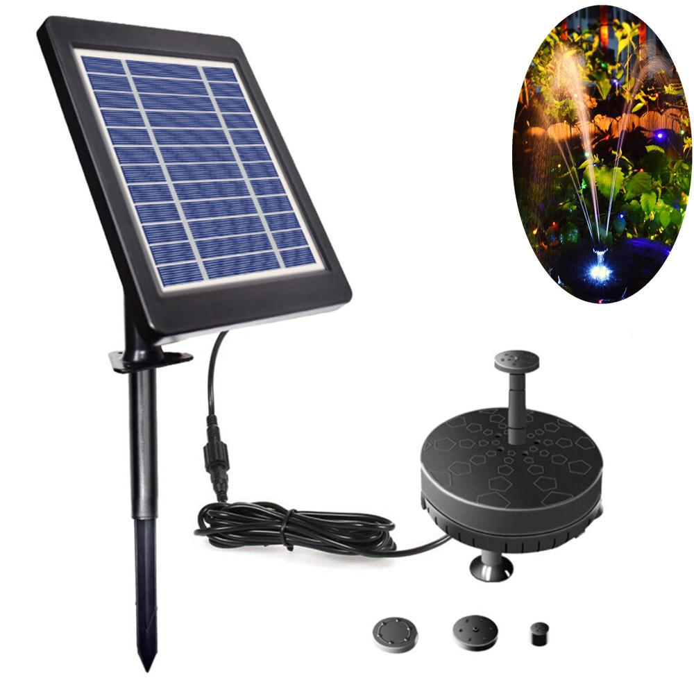 LED Lighting Solar Floating Fountain Outdoor Garden Landscape Decor Pool Pond Solar Water Fountain Pump Bird Bath Decoration