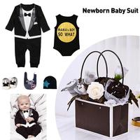 Spring and Summer Newborn Baby Cotton Suit 0 6 Moths Children Clothes Romper Shoes Set for Kids