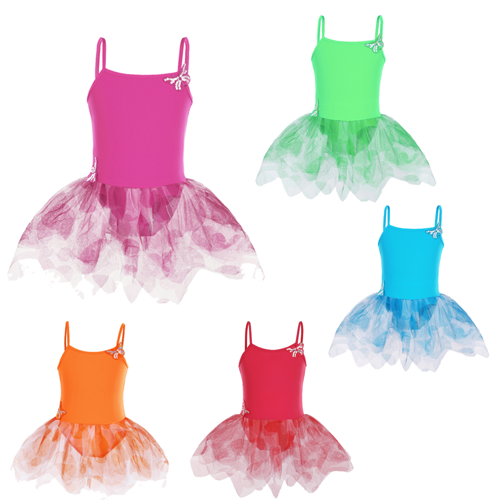 BAOHULU 5 Colors Girls Dress Kids Soft Tutu Performance Costume Dresses Ballet Gymnastics Leotard Dancewear For Children Girl new girls ballet costumes sleeveless leotards dance dress ballet tutu gymnastics leotard acrobatics dancewear dress