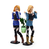 2 PCS/LOT Anime Dragon Ball Z Android 18 Lazuli Action Figure PVC Sexy Girl Collectible Model Christmas Gift Toys For Children