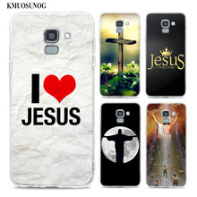 Transparent Soft Silicone Phone Case i love jesus jesus christ For Samsung Galaxy j8 j7 j6 j5 j4 j3 Plus 2018 2017 Prime cool stylish i love jesus bracelet brown