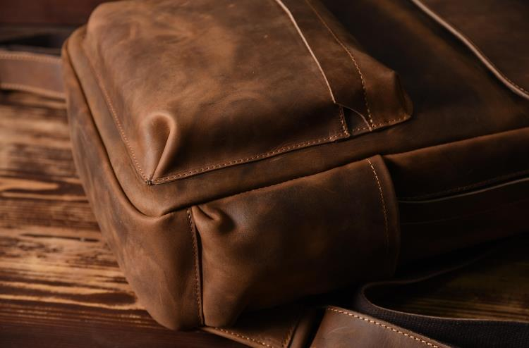 Cheap genuine leather backpack